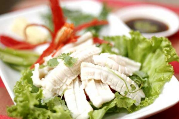 Cuttlefish Steamed with Ginger