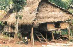 Muong ethnic minority's stilt house