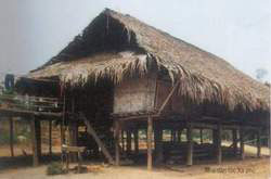 Xa pho ethnic minority's stilt house